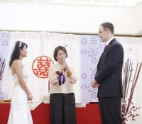 Jetsun Ma gives her blessing at a wedding